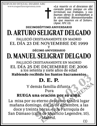 Arturo Seligrat Delgado